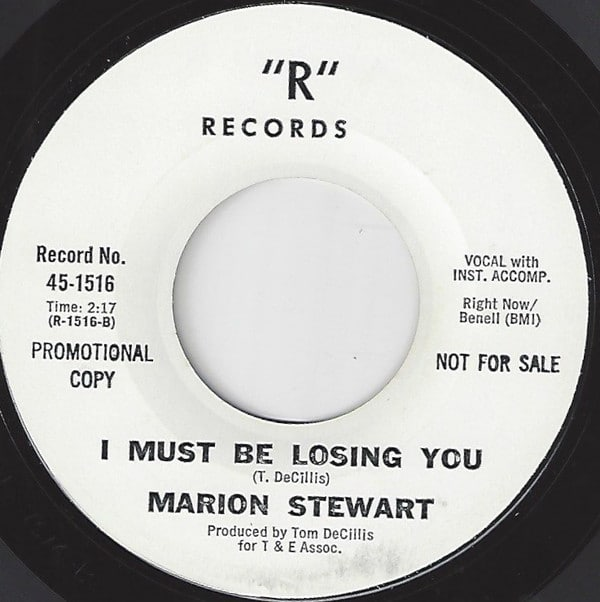 """1967  Sweet soul music, from """"R"""" Records label. Marion Stewart-I Must be losing you"""