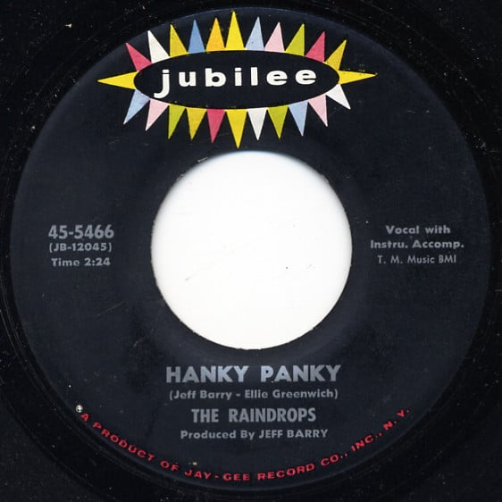 Hanky Panky (by Jeff Barry and Ellie Greenwich)